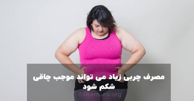 مصرف چربی زیاد موجب چاقی شکم می شود